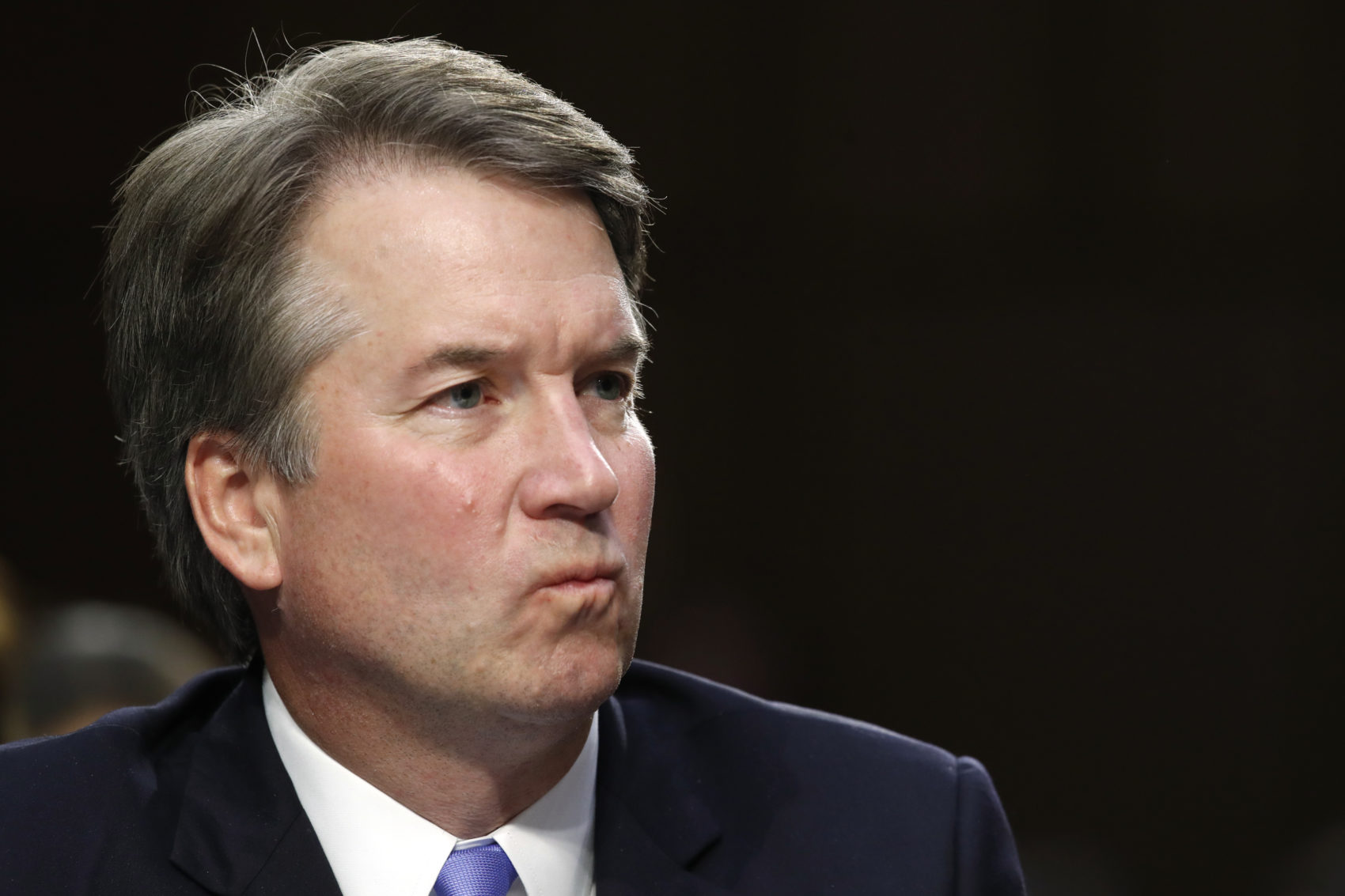 President Donald Trump's Supreme Court nominee, Brett Kavanaugh, listens to a question during the third round of questioning on the third day of his Senate Judiciary Committee confirmation hearing, Thursday, Sept. 6, 2018, on Capitol Hill in Washington, to replace retired Justice Anthony Kennedy. (Jacquelyn Martin/AP)