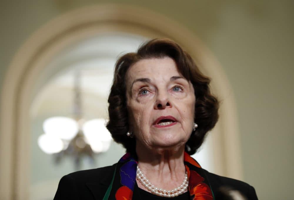 Sen. Dianne Feinstein, D-Calif., speaks to the media on Capitol Hill, in Washington, D.C. on Oct. 4, 2018. (Alex Brandon/AP)