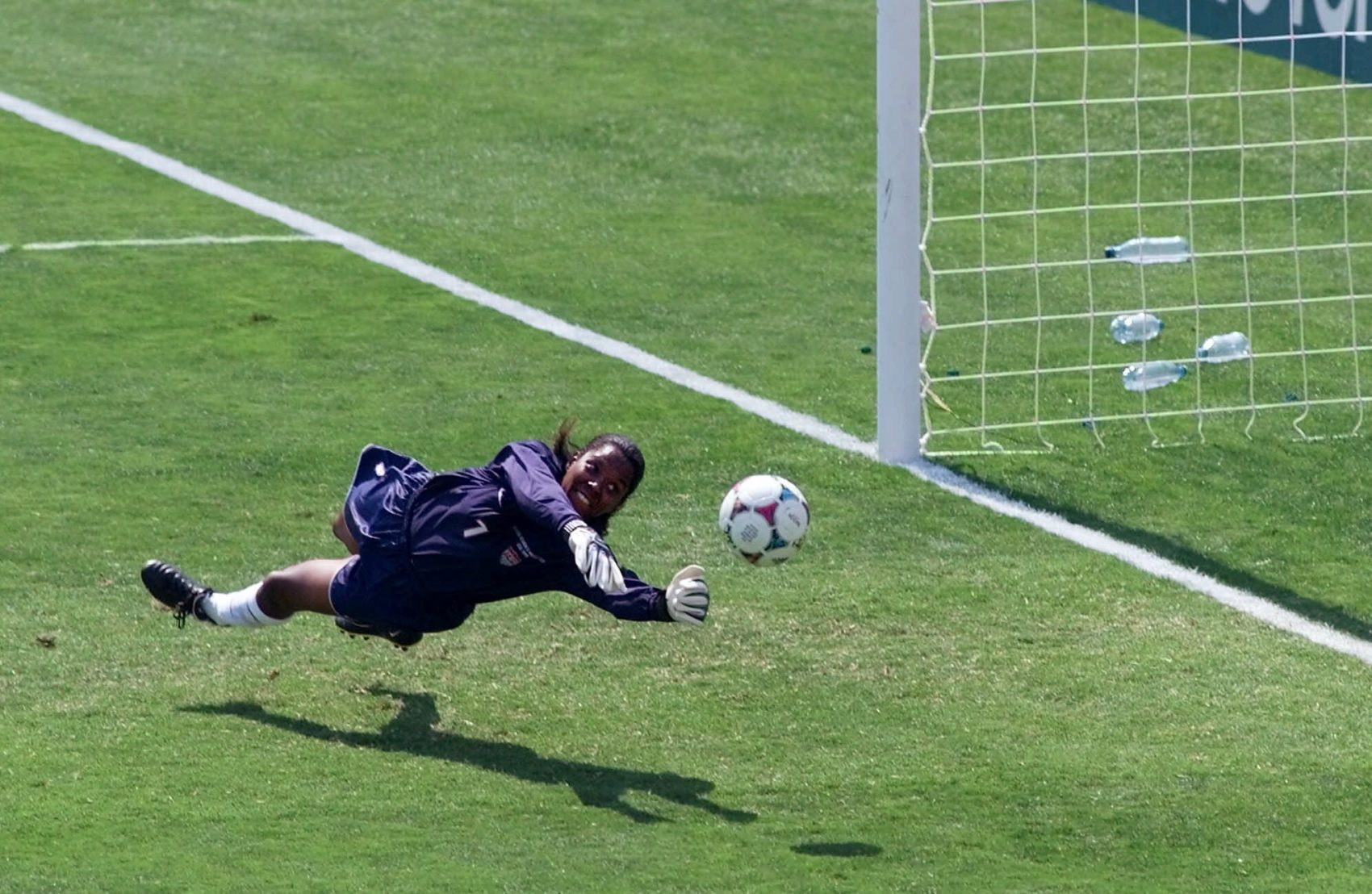 Briana Scurry's save in the 1999 Women's World Cup final shootout set the stage for a Team USA win. (AP Photo/Eric Risberg)