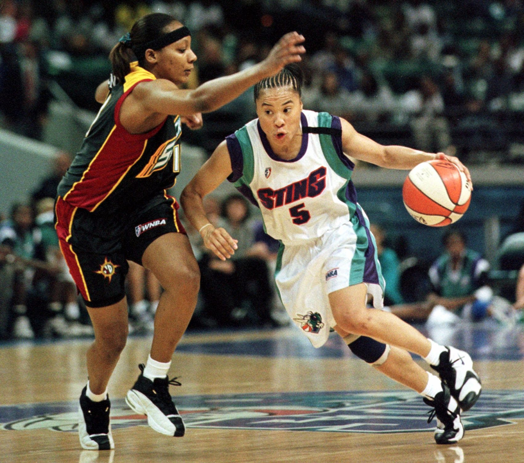 Dawn Staley was a six-time WNBA All-Star with the Charlotte Sting and Houston Comets. (Nell Redmond/AP)