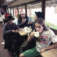 Red Hot Chili Peppers in the Capitol Diner in Lynn. (Courtesy Julie Kramer)
