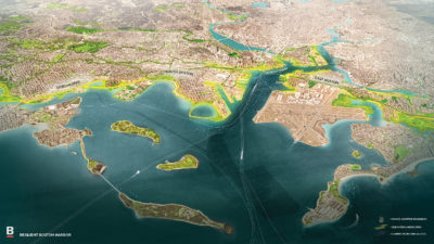 A map of the proposed changes to Boston Harbor (Courtesy city of Boston)