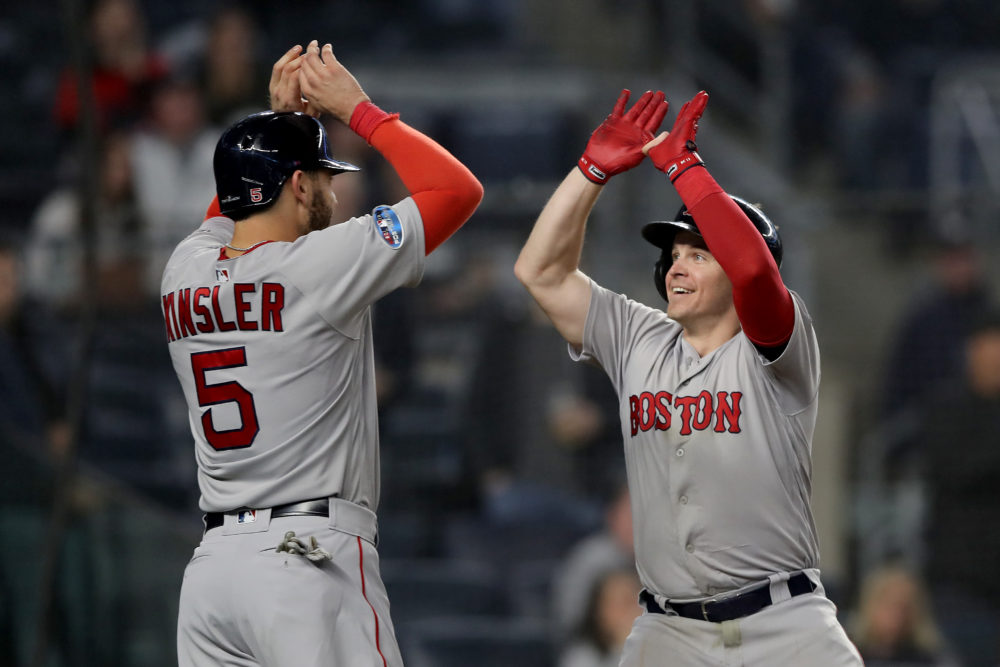 The Red Sox play the Houston Astros in the ALCS. (Elsa/Getty Images)