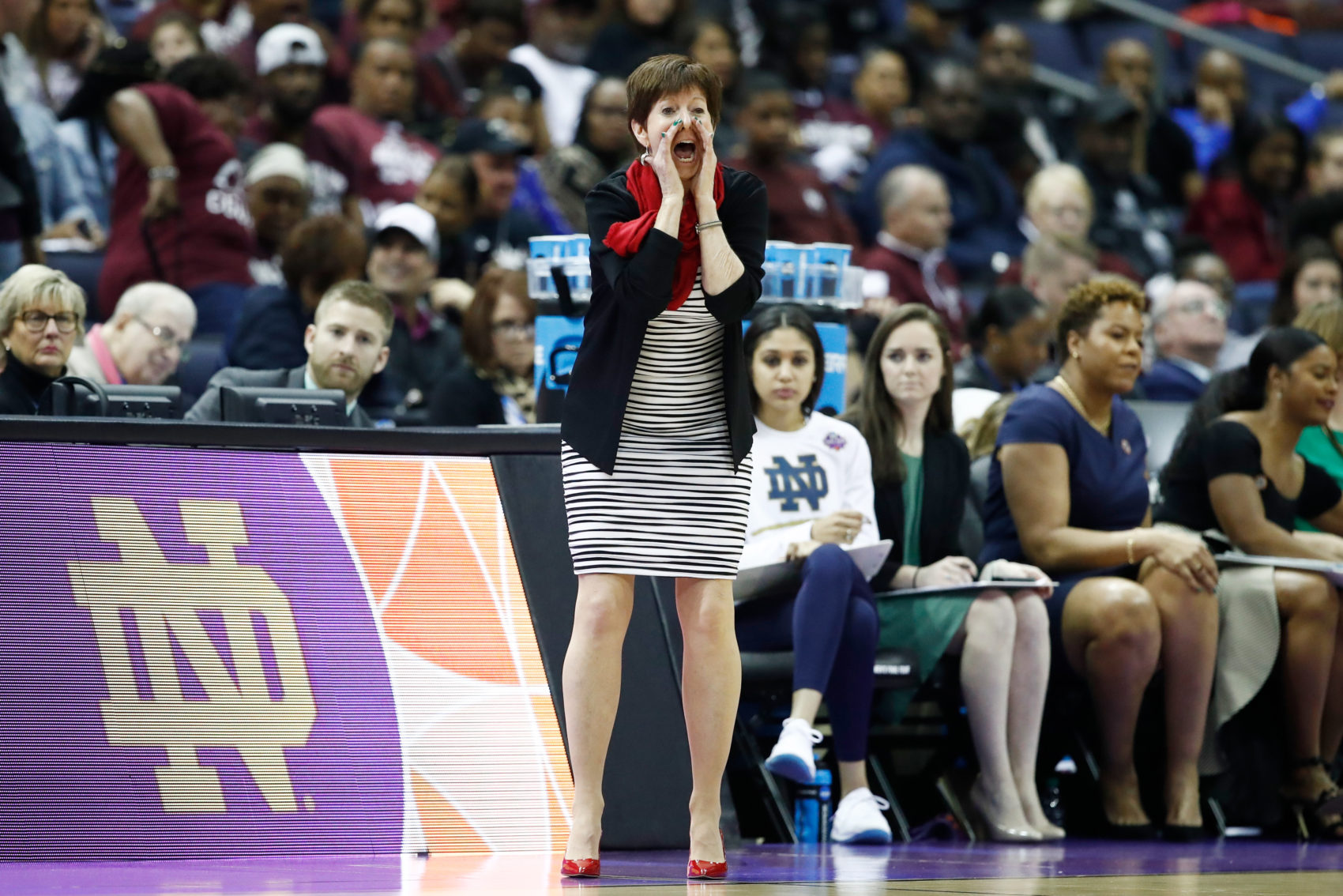Muffet McGraw has won two national championships as the head coach of the Notre Dame women's basketball team. (Andy Lyons/Getty Images)