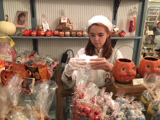 The Shane Confectionery makes themed treats for different holidays throughout the year. (Meghna Chakrabarti/On Point)