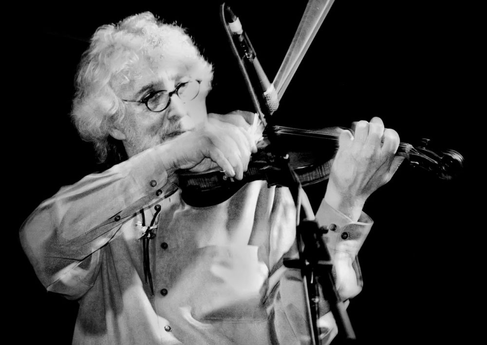 Richard Greene invented the fiddle chop, a technique that mimics percussion on a violin. (Courtesy of the artist)