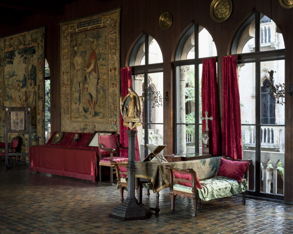 The tapestries in the Gardner Museum. (Courtesy Isabella Stewart Gardner Museum)