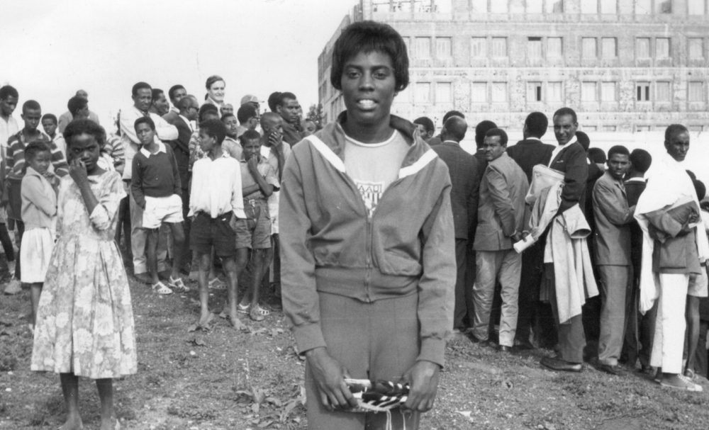 Wyomia Tyus at the Goodwill Games in Kenya. (Photo by Ed Temple/Courtesy Akashic Books)