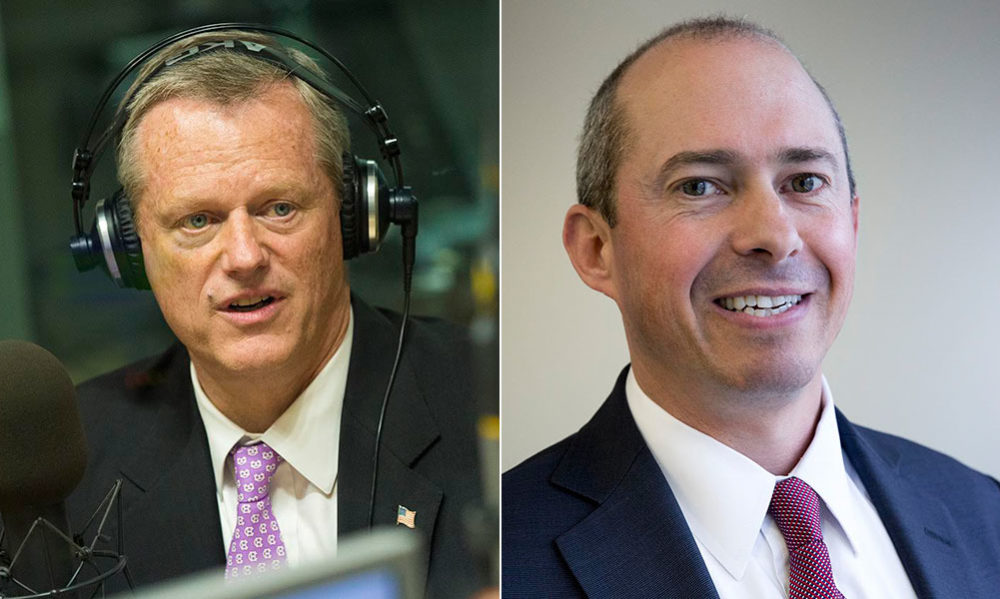 Charlie Baker, left, and Jay Gonzalez (composite photo)