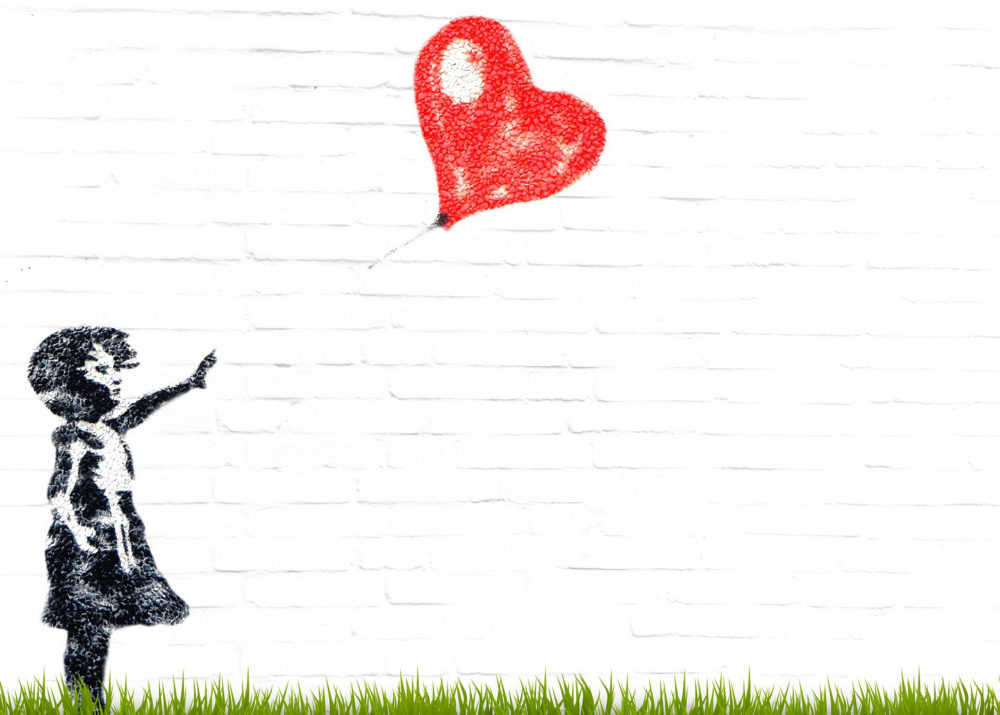 """An image of Banksy's """"Girl With Balloon."""" (pixel2013/Pixabay)"""