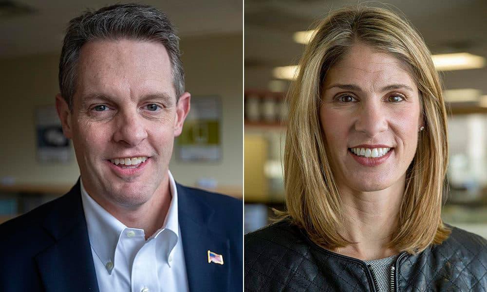3rd Congressional District candidates Rick Green and Lori Trahan. (WBUR)