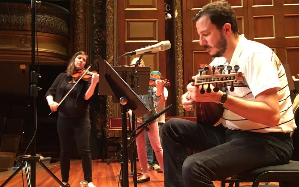 Mehmet Ali Sanlıkol performs a previous piece in Boston. (Courtesy of the artist)