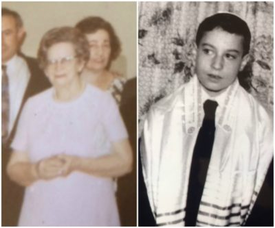 Nana Etta Siegel in 1969 and the author, Ed Siegel, at his bar mitzvah in 1960. (Courtesy)