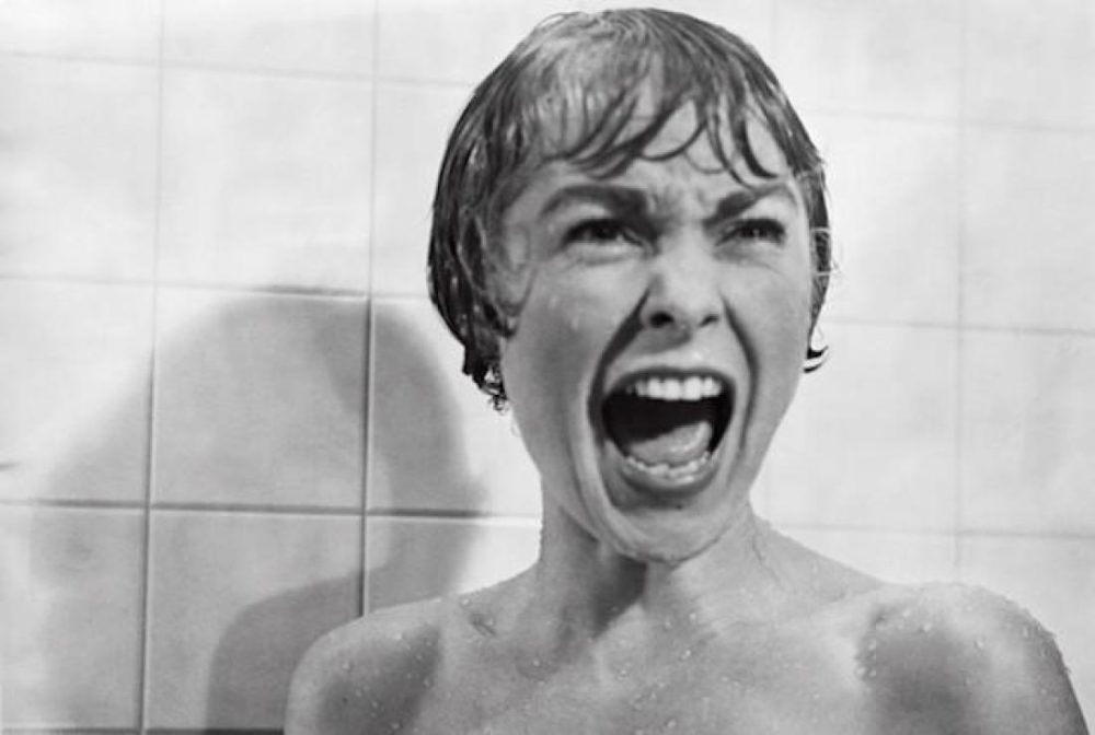 "Actress Janet Leigh in the shower scene in Alfred Hitchcock's 1960 classic thriller ""Psycho."" (YouTube)"