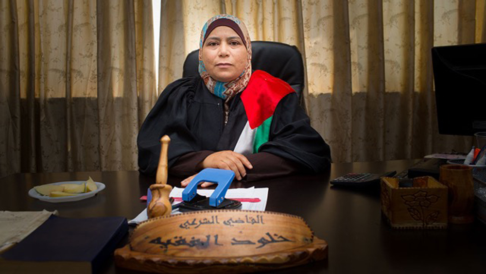 Judge Kholoud Al-Faqih. (Courtesy Boston Palestine Film Festival)