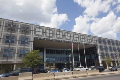 Boston Police Department headquarters (Joe Difazio for WBUR.)