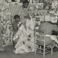 Quilt makers in Gee's Bend, Alabama in April 1937 (Courtesy)