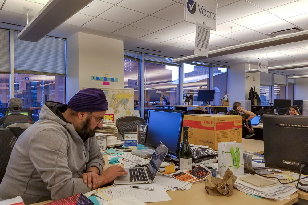 Nimit Sawhney is the co-founder and CEO of Boston-based startup Voatz. (Zeninjor Enwemeka/WBUR)