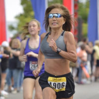 Jeannie Rice set a world record for her age group at last month's Chicago Marathon, besting the previous record by 7 1/2 minutes. (Courtesy of Jeannie Rice)