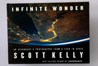 """""""Infinite Wonder: An Astronaut's Photographs from a Year in Space,"""" by Scott Kelly. (Robin Lubbock/WBUR)"""