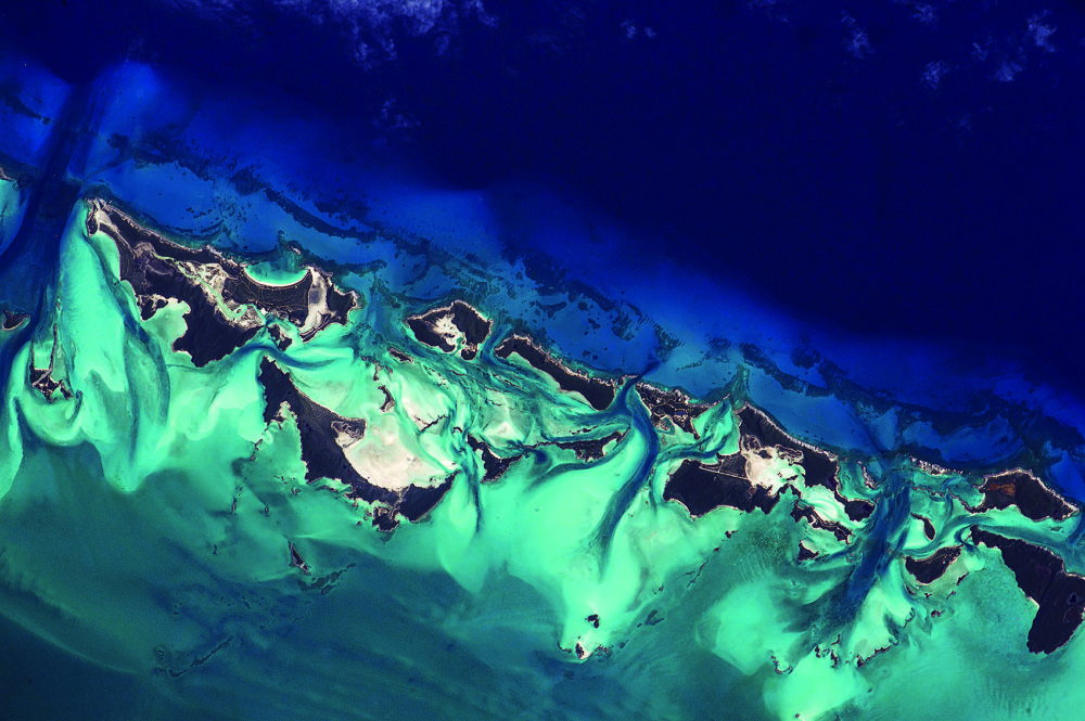 Compass Cay, the Bahamas. (Courtesy of NASA/Scott Kelly)