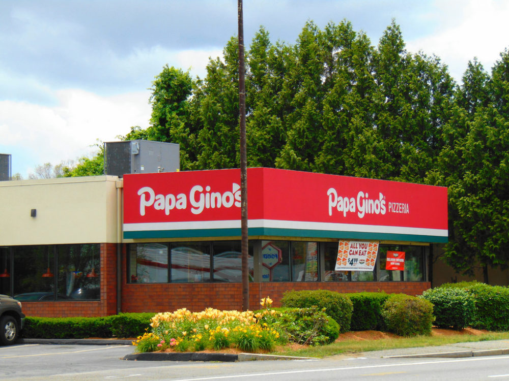 A Papa Gino's pizzeria in Worcester, Massachusetts is one of over 100 locations. The company  announced bankruptcy on Monday, after patrons and employees said dozens of stores were closed unexpectedly Sunday. (JJBers via Flickr)