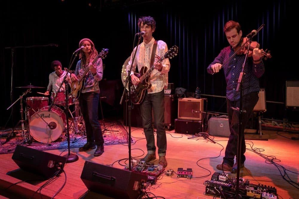 Cambridge-based band Billy Wylder. (Robin Lubbock/WBUR)