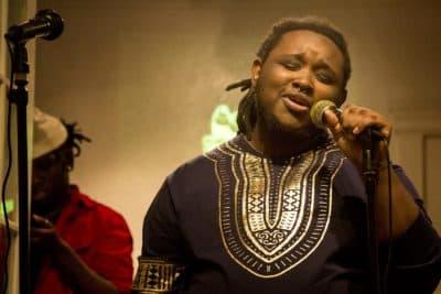 Eziah Blake, known as the Black Bear Extraordinaire, has recorded his first mixtape (Arielle Gray / WBUR)