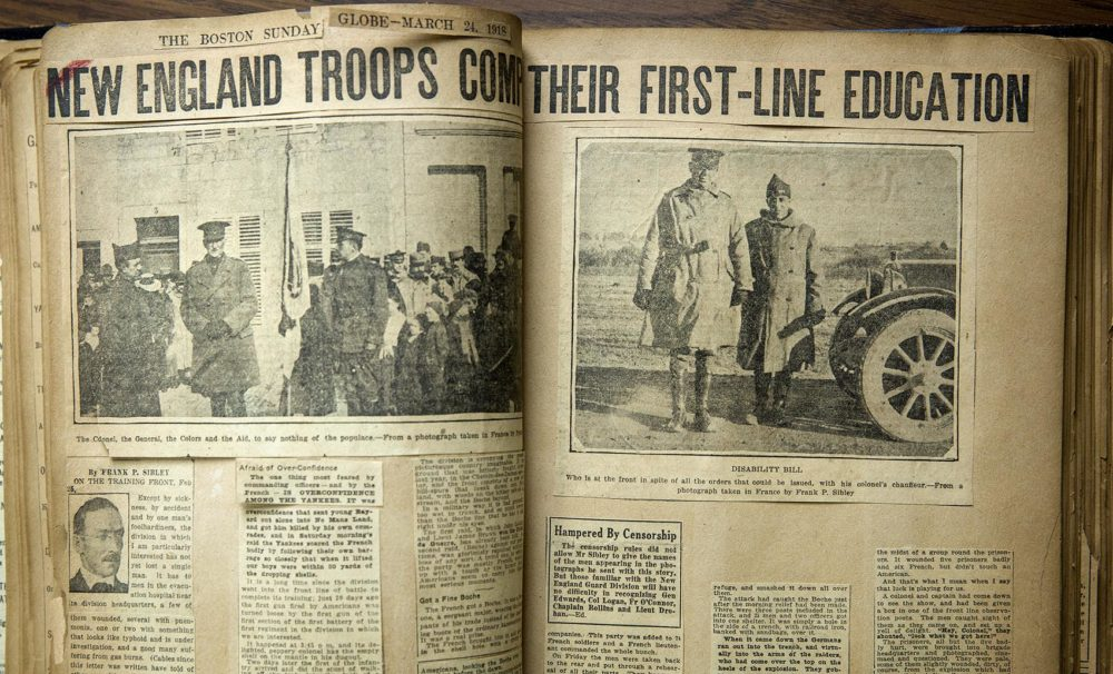 The Boston Sunday Globe, March 24, 1918. (Massachusetts National Guard Archives)