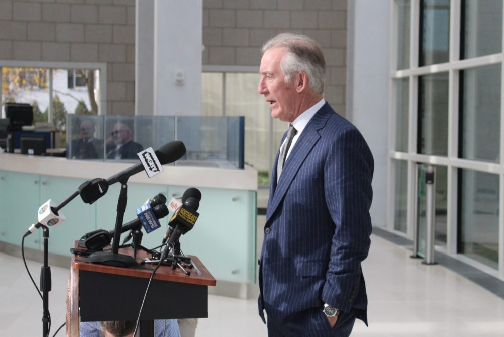Congressman Richard Neal, who could be in line for chairmanship of the U.S. House Ways and Means Committee, spoke Wednesday in Springfield. (Nicole DeFeudis/SHNS)