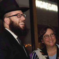 Rabbi Mike Moskowitz is one of the few ultra-Orthodox Jewish rabbis who not only support, but actively advocate for, LGBTQ individuals. He's pictured here with Rabbi Sharon Kleinbaum of the Congregation Beit Simchat Torah in New York. (Courtesy of Mike Moskowitz)