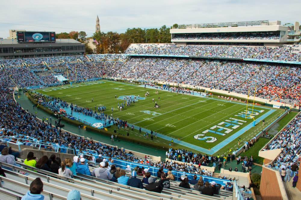 Kenan Memorial Stadium was named after William Rand Kenan Sr., who participated in a massacre that resulted in the deaths of at least 60 people. (William Yeung via Wikimedia Commons)
