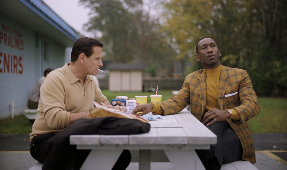 """Viggo Mortensen as Tony Lip and Mahershala Ali as Don Shirley in """"Green Book."""" (Courtesy Universal Pictures)"""