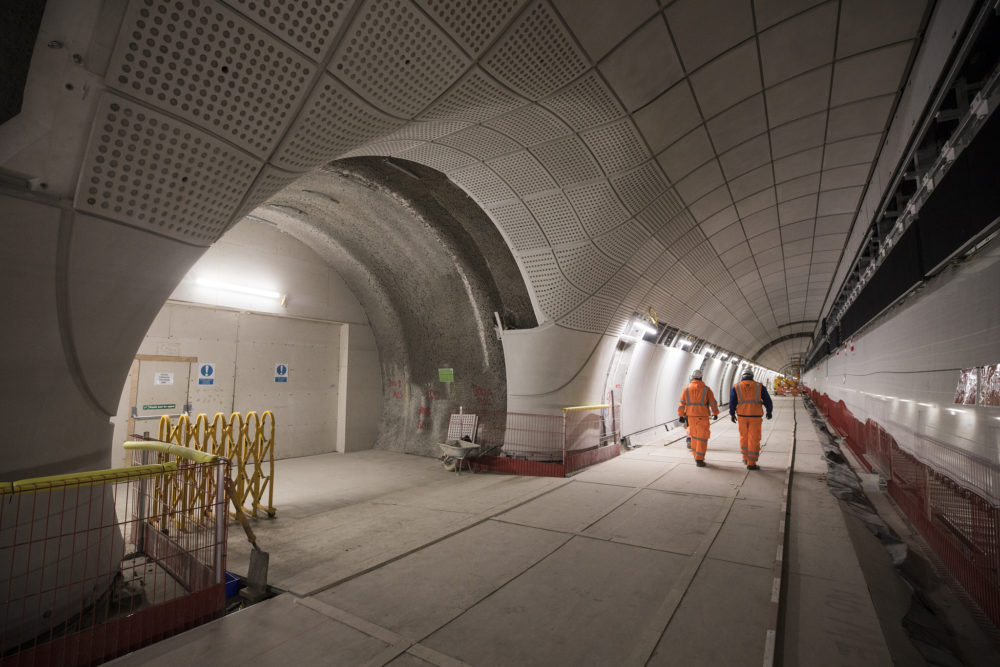 A platform-level view of the Whitechapel Crossrail station. (Courtesy of Crossrail)