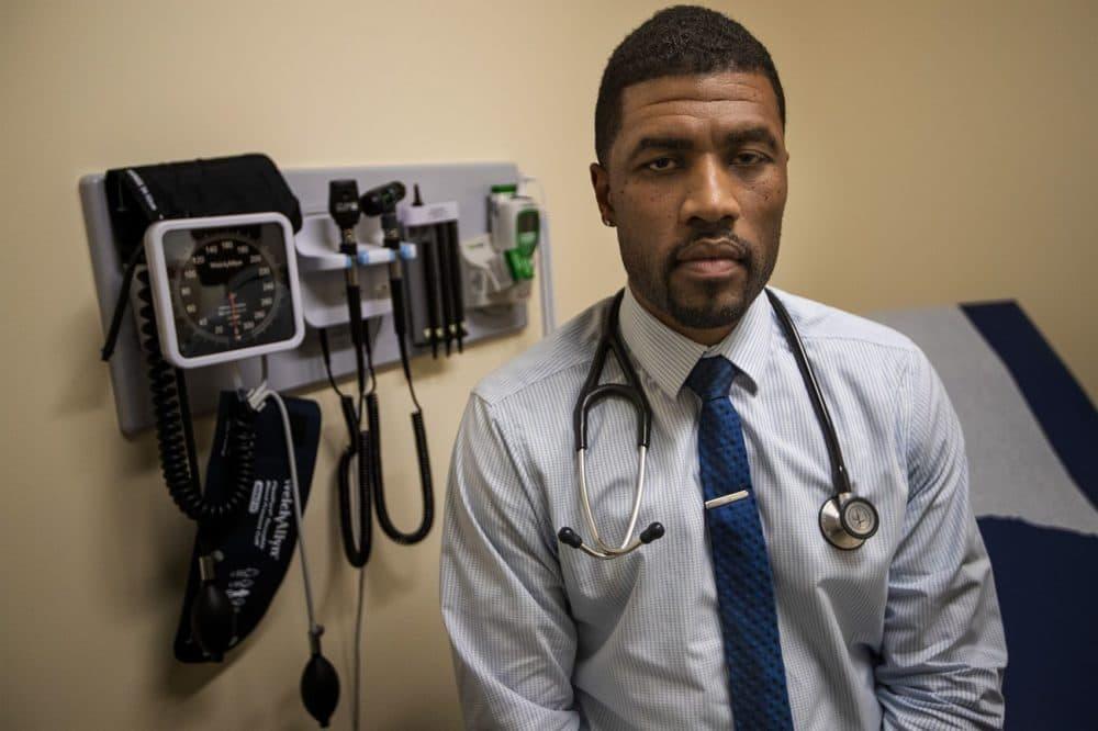 Dr. Sherar Andalcio (Jesse Costa/WBUR)