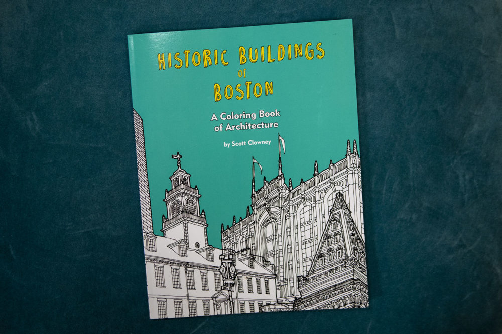 Historic Building Of Boston coloring book. (Jesse Costa/WBUR)