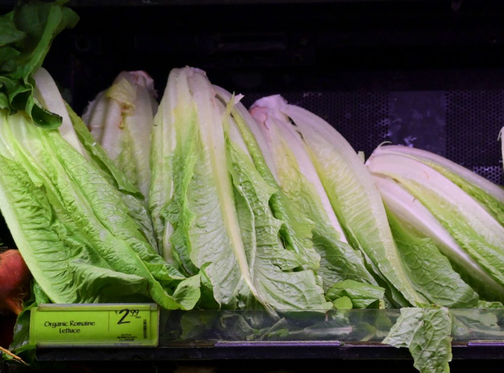 Romaine lettuce is seen on sale at a supermarket in Washington, D.C., on Nov. 20, 2018. (Andrew Caballero-Reynolds/AFP/Getty Images)
