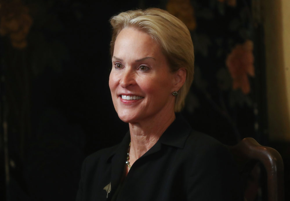 Scientist Frances Arnold, winner of the 2018 Nobel Prize in chemistry, smiles at a celebratory press conference at Caltech on Oct. 3, 2018 in Pasadena, Calif. (Mario Tama/Getty Images)
