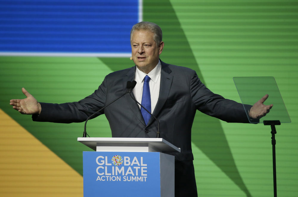 Former Vice President Al Gore during the Global Action Climate Summit, Sept. 14, 2018, in San Francisco. (Eric Risberg/AP)