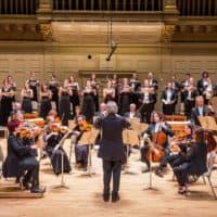 Handel and Haydn Society rehearse. (Courtesy Chris Lee)