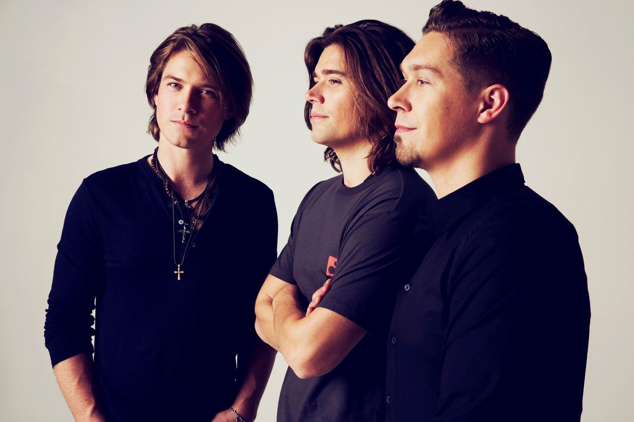 Taylor, left, Zac and Isaac of Hanson. (Jonathan Weiner/Courtesy of the artist)