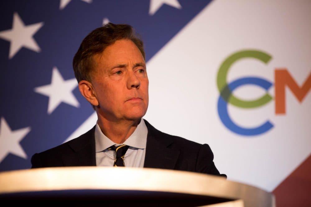 Democrat Ned Lamont at a gubernatorial debate last month. (Frankie Graziano/Connecticut Public Radio)