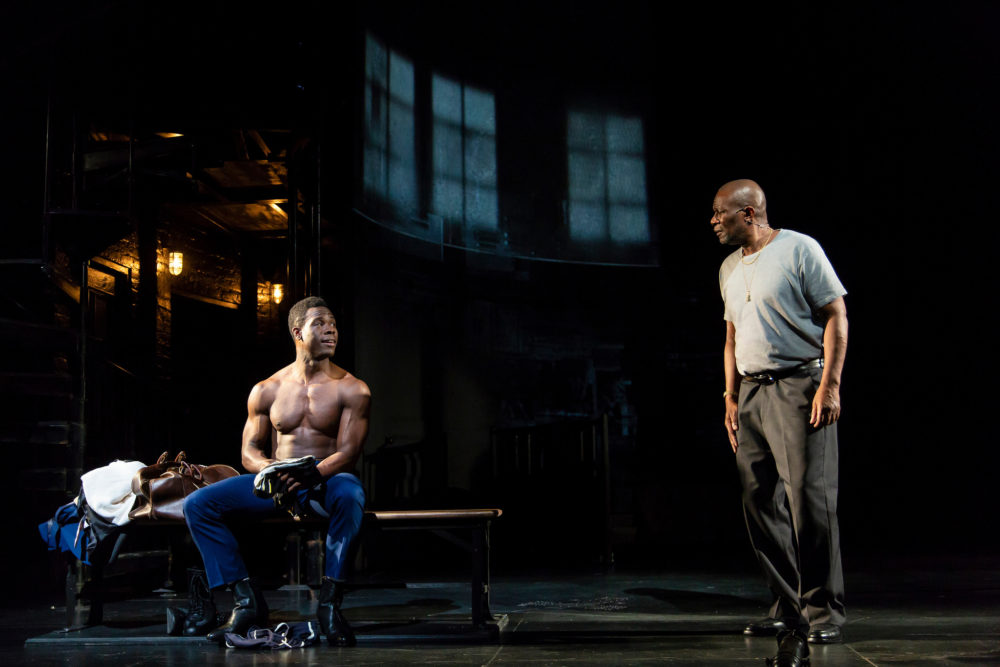 Kyle Vincent Terry and John Douglas Thompson (Courtesy Huntington Theatre Company)