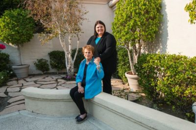 Jenn Carson and Sylvia Case Peterson reunite after 35 years. (Andrew Cullen for WBUR)
