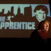"Donald Trump, seeking contestants for ""The Apprentice"" television show, is interviewed at Universal Studios Hollywood Friday, July 9, 2004, in the Universal City section of Los Angeles. (Ric Francis/AP)"