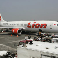 In this May 12, 2012 file photo, a Lion Air passenger jet is parked on the tarmac at Juanda International Airport in Surabaya, Indonesia. (Trisnadi/AP)