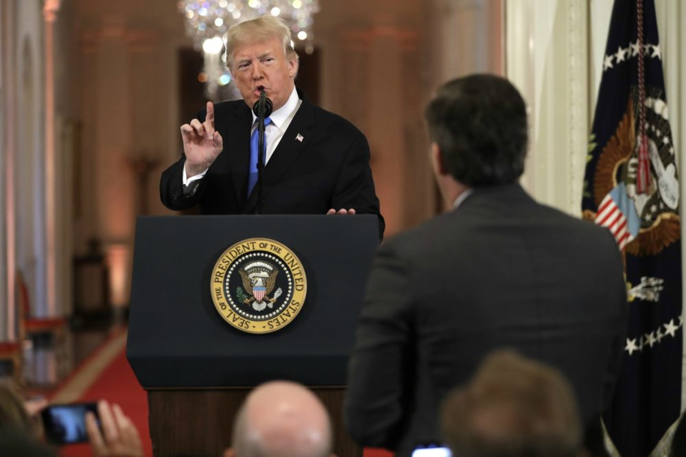 President Donald Trump speaks during a news conference in the East Room of the White House, Wednesday, Nov. 7, 2018, in Washington. (Evan Vucci/AP)