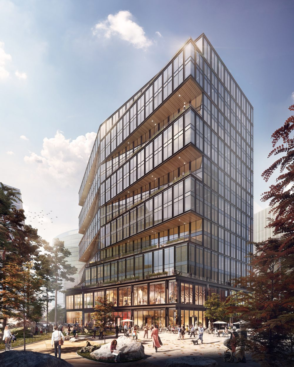 Amazon's new office in Boston's Seaport District will create 2,000 tech jobs in the city. It is expected to open in 2021. (Courtesy Amazon/Business Wire)