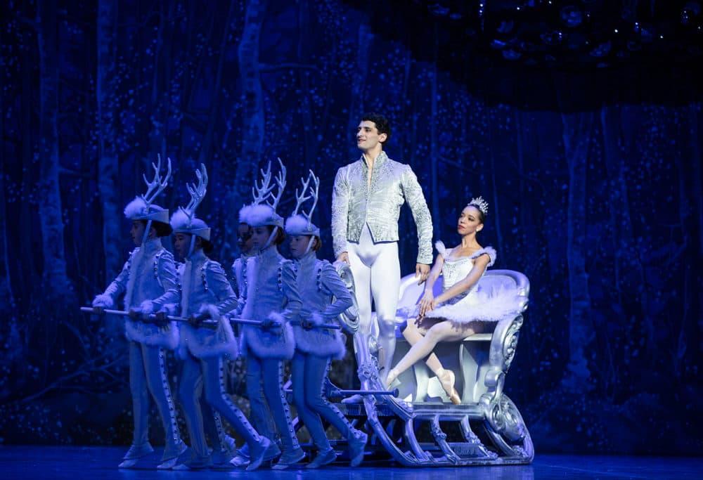 Lasha Khozashvili and Chyrstyn Fentroy in Mikko Nissinen's The Nutcracker (Photo by Angela Sterling, courtesy of Boston Ballet)