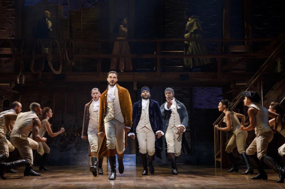 """The touring company of """"Hamilton."""" (Courtesy Joan Marcus)"""